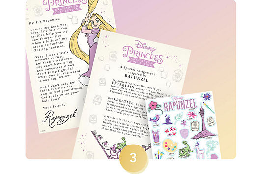 <h6>Make memories with a letter and video greeting from a different Disney princess each month.</h6>