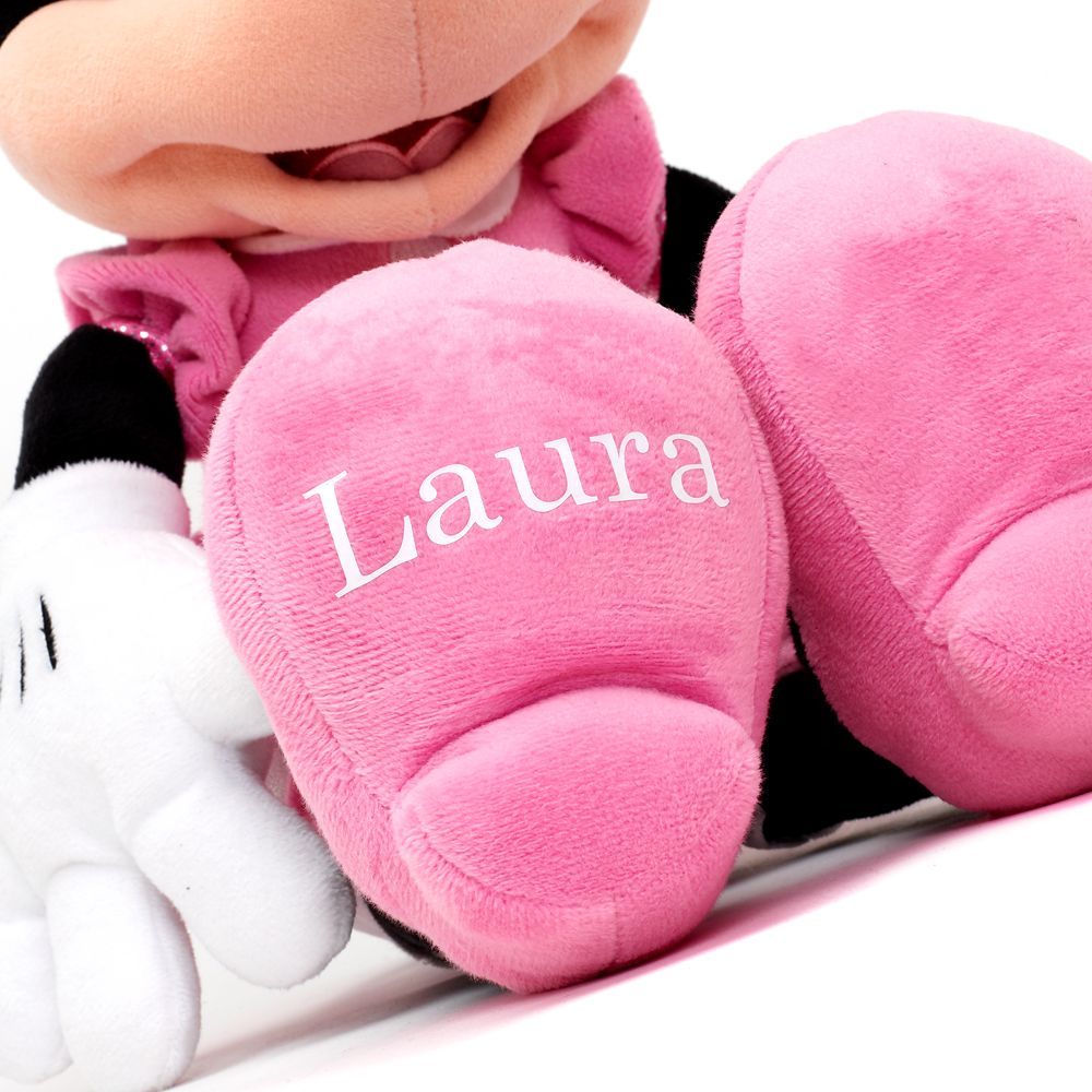 Minnie Mouse Plush – Pink – Medium 18'' – Personalized