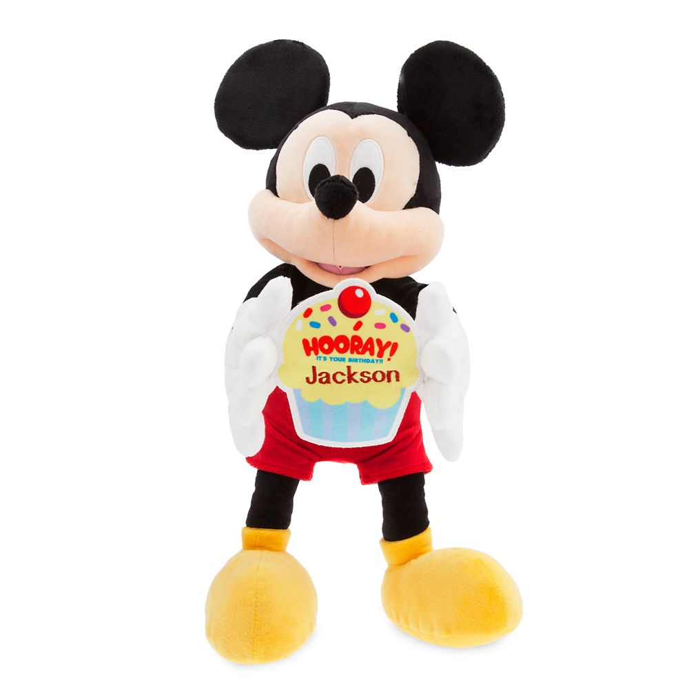 Mickey Mouse Message Plush – Medium – Happy Birthday – Personalizable