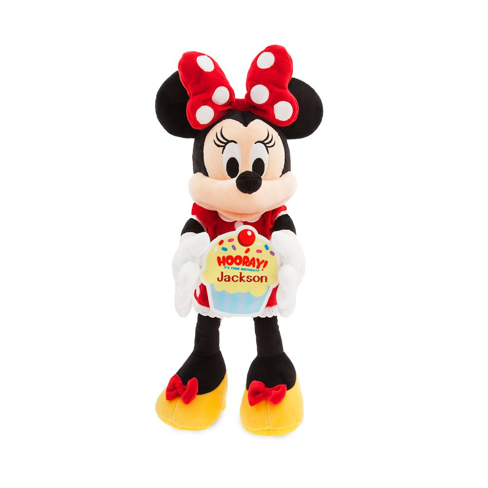 Minnie Mouse Message Plush – Medium – Happy Birthday – Personalizable