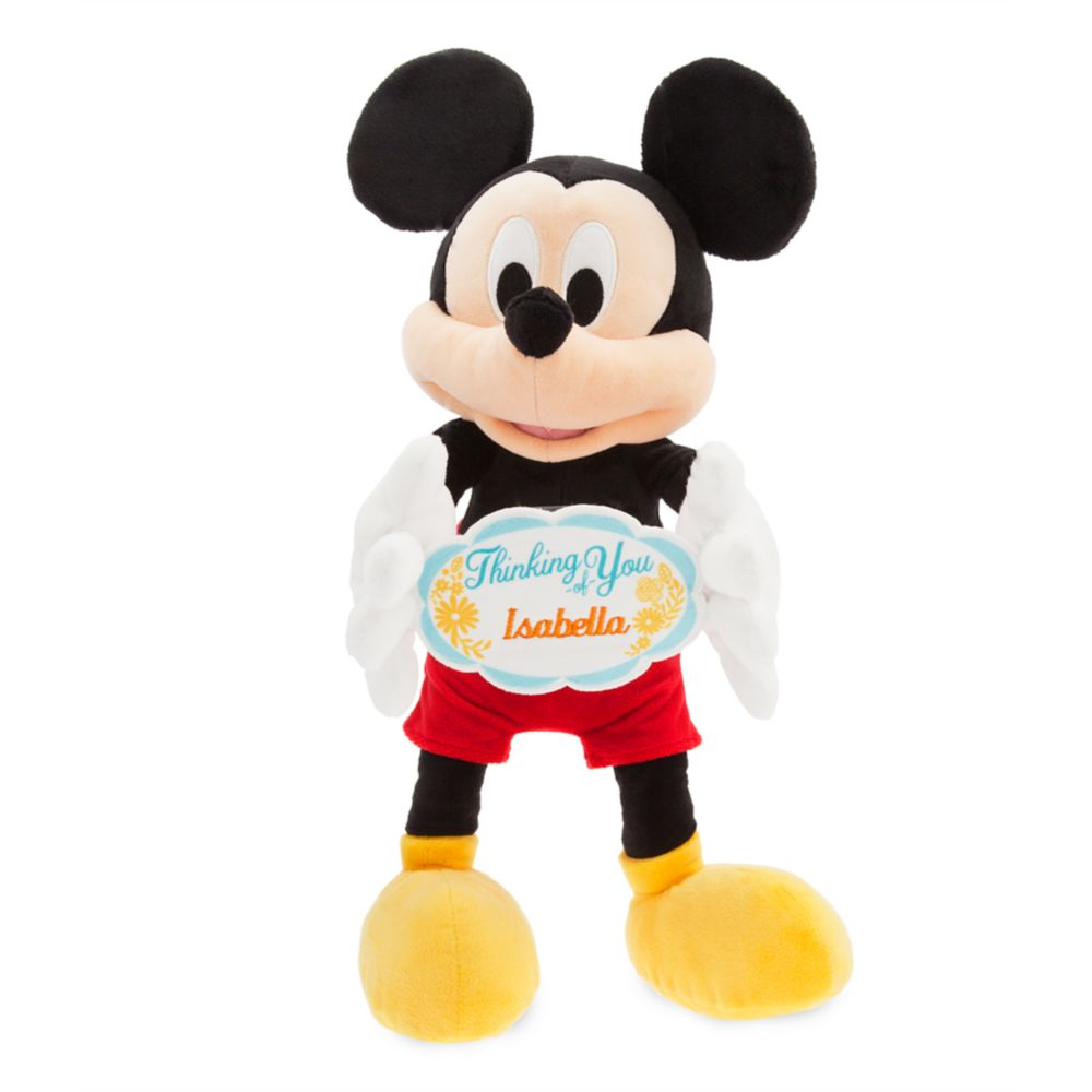 Mickey Mouse Message Plush – Medium – Thinking of You – Personalizable