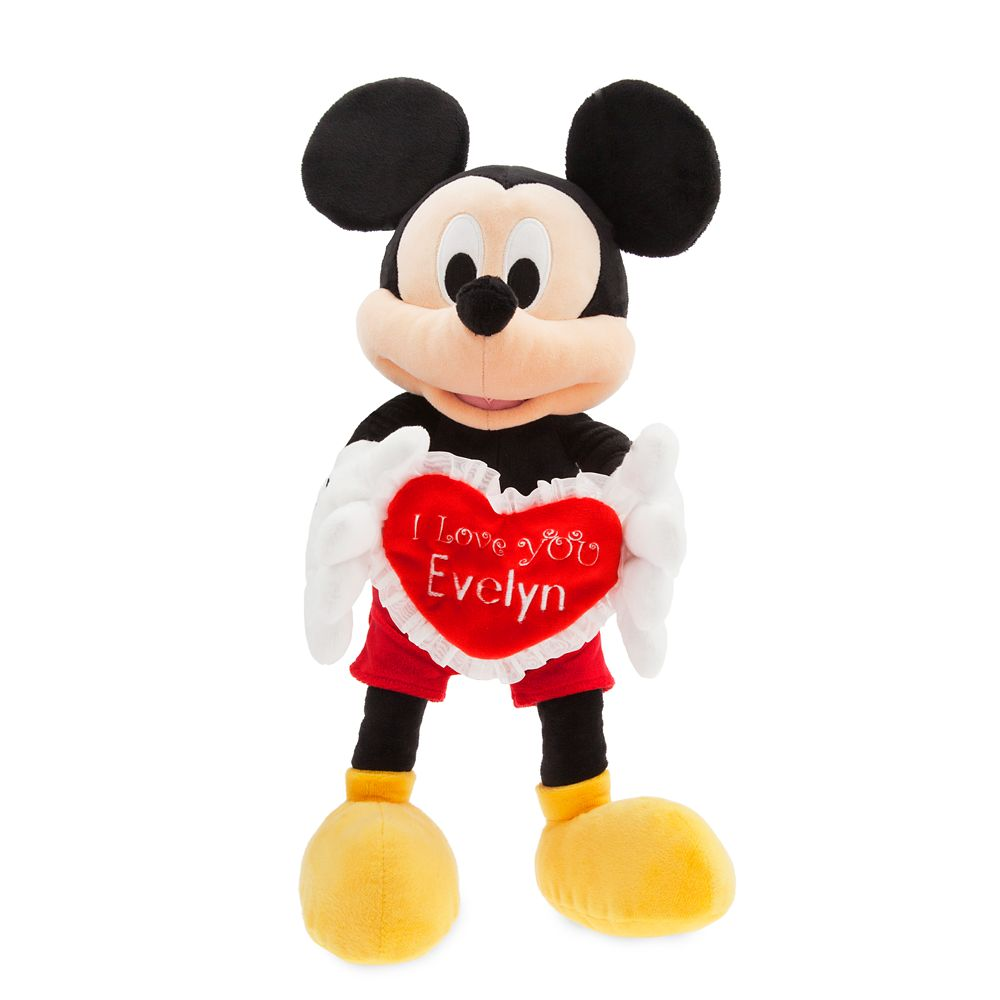 Mickey Mouse Message Plush – Medium – I Love You – Personalizable