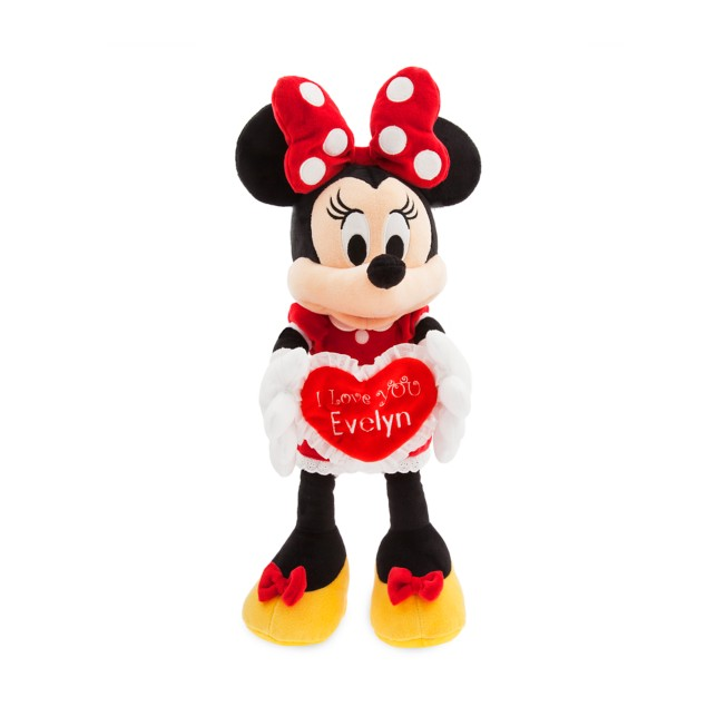 Minnie Mouse Message Plush – Medium – I Love You – Personalizable