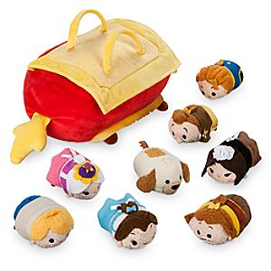 Beauty and the Beast ''Tsum Tsum'' Plush Set - Small Tote - 10'' - Plus 8 Minis - 3 1/2''