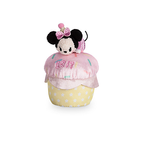 Minnie Mouse ''Tsum Tsum'' Plush - Birthday Cupcake 2017 - Mini - 4''