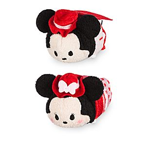 Mickey and Minnie Mouse ''Tsum Tsum'' Plush Valentine's Day 2017 Set - Mini 3 1/2''