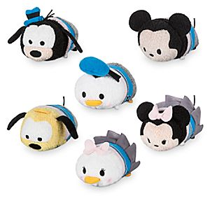 Mickey Mouse and Friends Disney Store 30th Anniversary ''Tsum Tsum'' Set - Mini - 3 1/2''