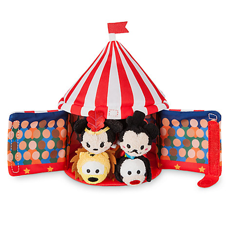 Mickey Mouse Circus ''Tsum Tsum'' Plush Set - Tent - 6 1/2'' - Plus 4 Micros - 2 1/2''
