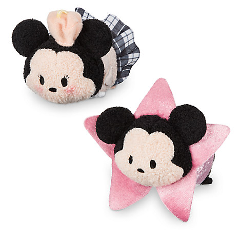 Mickey and Minnie Mouse ''Tsum Tsum'' Plush Set - Mini - 3 1/2'' - Los Angeles