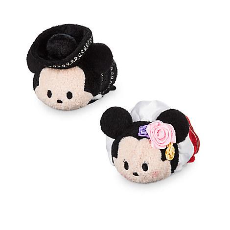 Mickey and Minnie Mouse ''Tsum Tsum'' Plush Set - Mini - 3 1/2'' - Mexico
