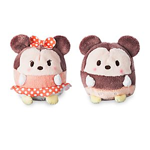 Mickey and Minnie Mouse Ufufy Plush Set - Mini 2 1/2''