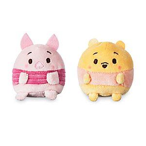 Winnie the Pooh and Piglet Ufufy Plush Set - Mini 2 1/2''