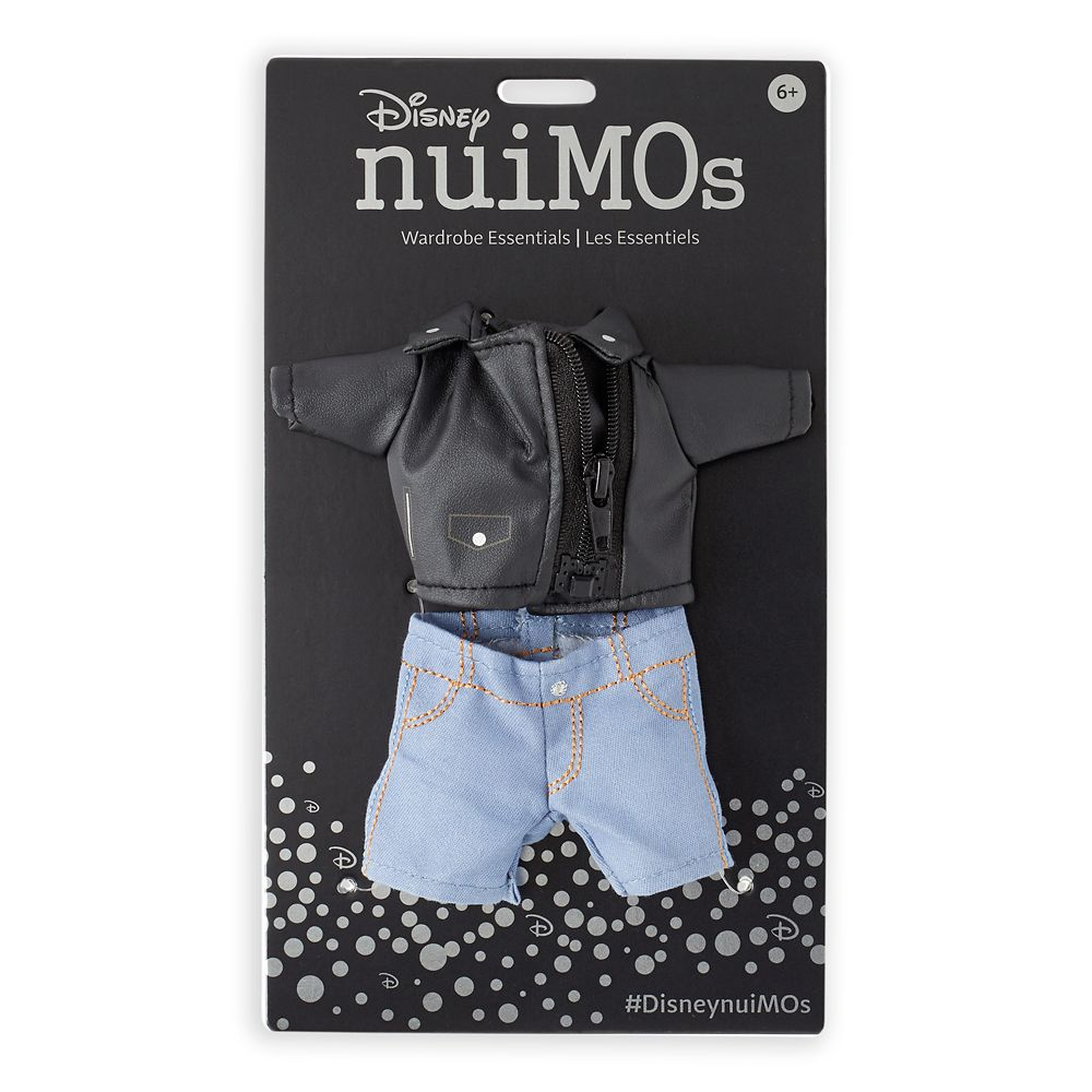 Disney nuiMOs Outfit – Black Faux Leather Jacket and Denim Pants