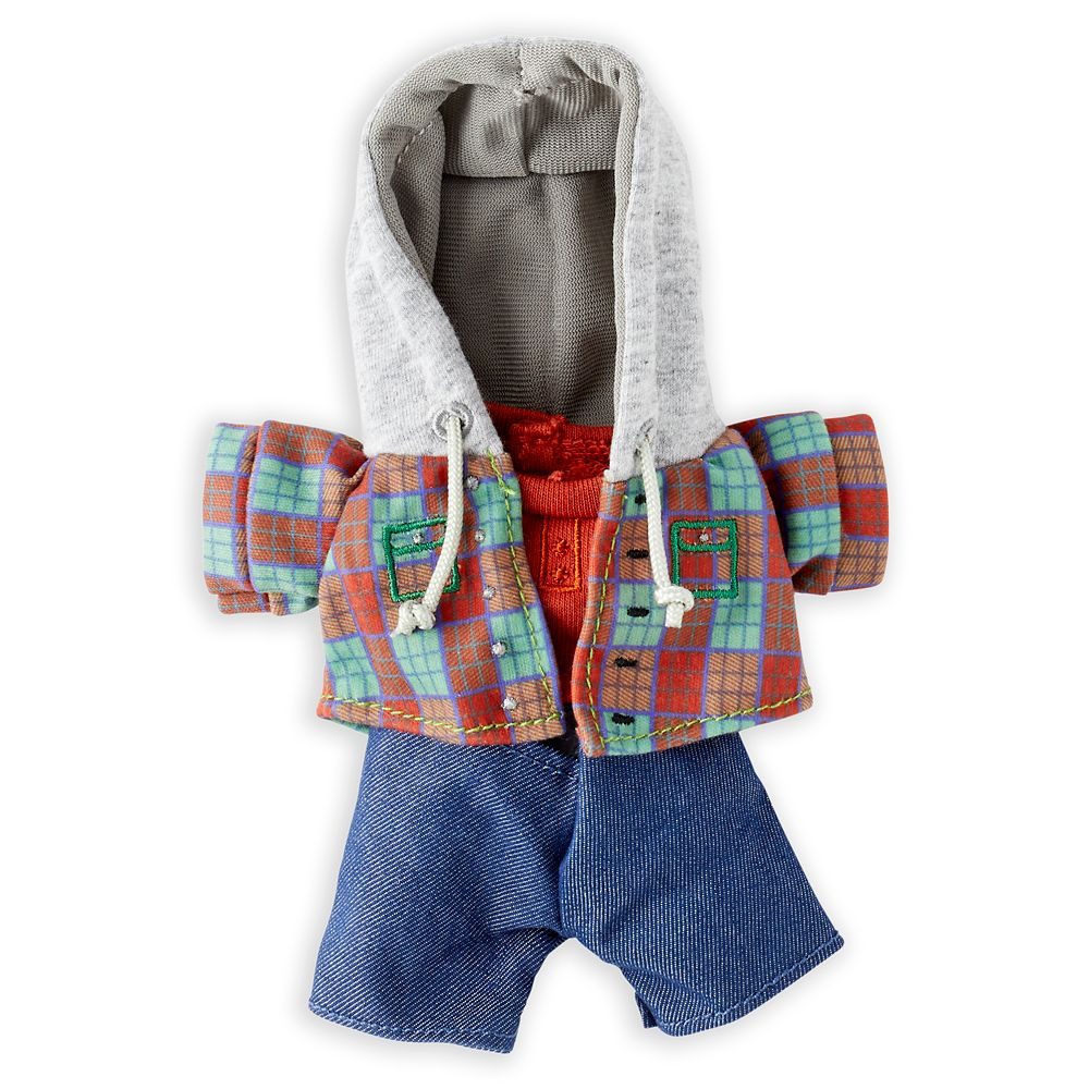 Disney nuiMOs Outfit – Flannel Hoodie and Jeans Set