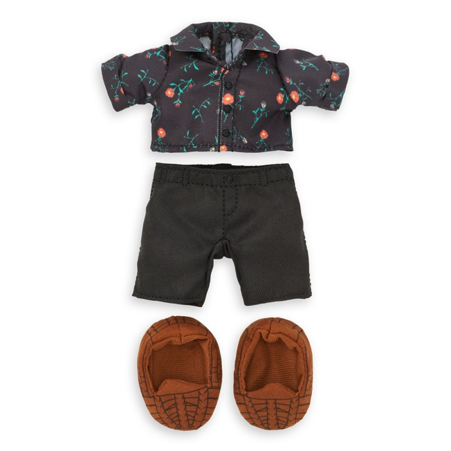 Disney nuiMOs Outfit – Floral Shirt with Black Pants and Sandals