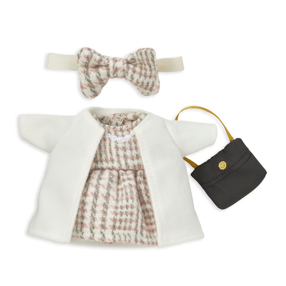 Minnie Mouse Disney nuiMOs Plush and White Coat with Tweed Dress and Crossbody Set