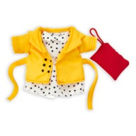 Disney nuiMOs Outfit – Yellow Coat with Polka Dot Dress and Red Clutch