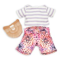 Disney nuiMOs Outfit – Striped Shirt with Floral Pants and Mini Bag