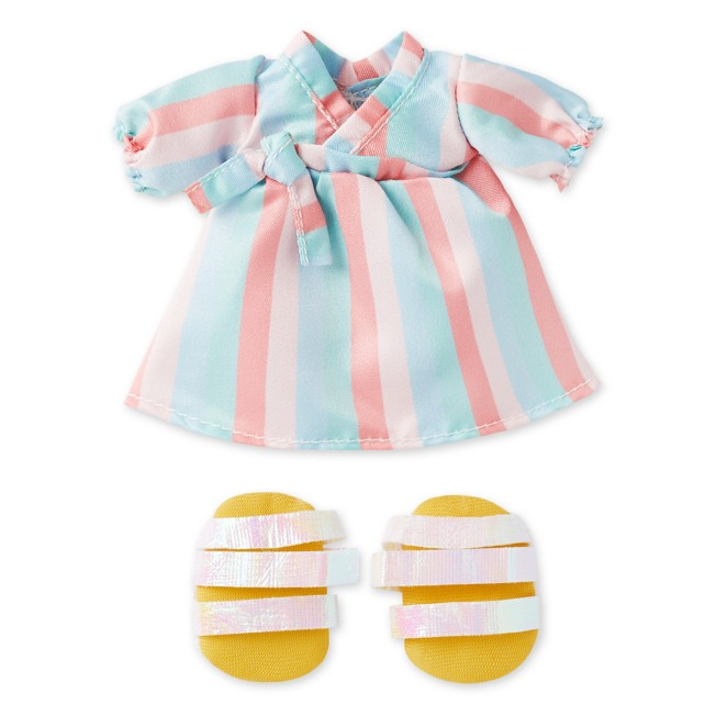 Disney nuiMOs Outfit – Pastel Striped Dress with Strap Sandals
