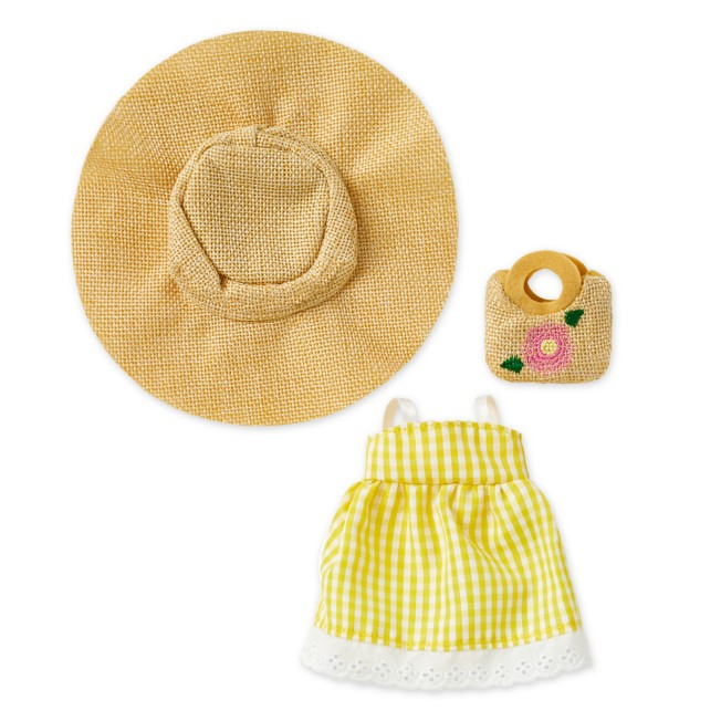 Disney nuiMOs Outfit – Yellow Gingham Dress with Sunhat and Straw Bag