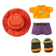 Disney nuiMOs Outfit – Orange T-Shirt with Brimmer Hat and Sandals