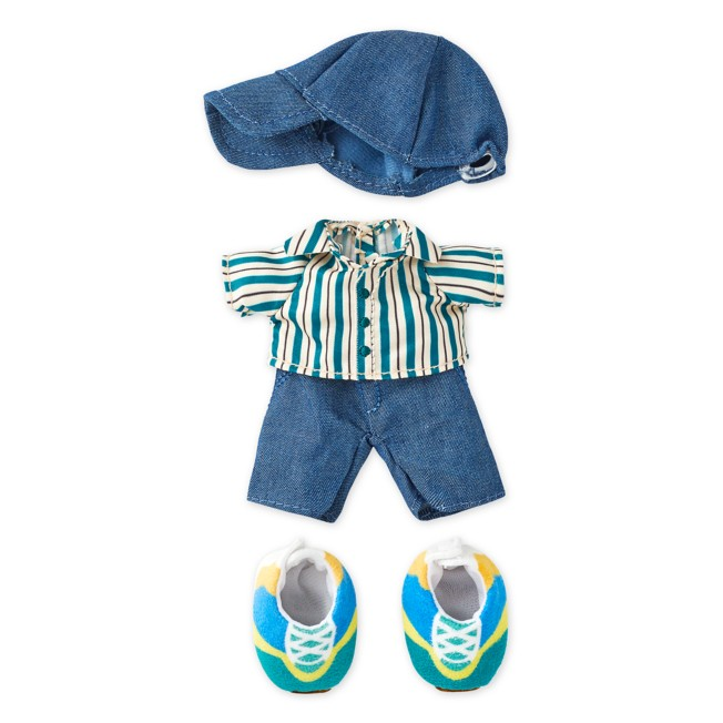 Disney nuiMOs Outfit – Striped Shirt with Cap and Sneakers