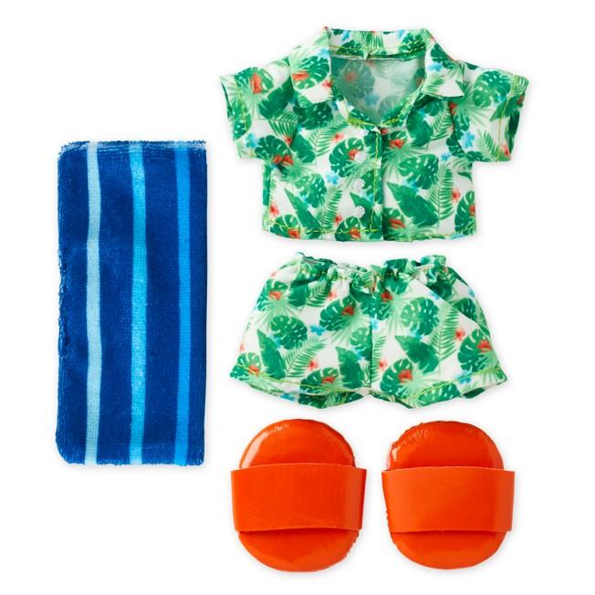 Disney nuiMOs Outfit – Hawaiian Shirt and Short Set with Towel