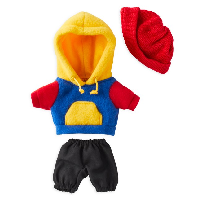 Disney nuiMOs Outfit – Colorblock Sweatshirt with Red Beanie
