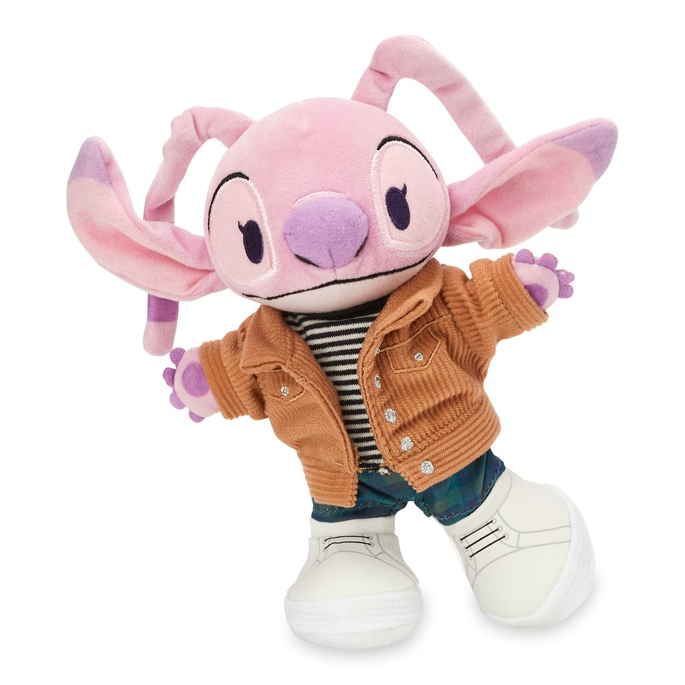 Disney nuiMOs Outfit – Corduroy Jacket and Striped Shirt with Plaid Pants and White Sneakers