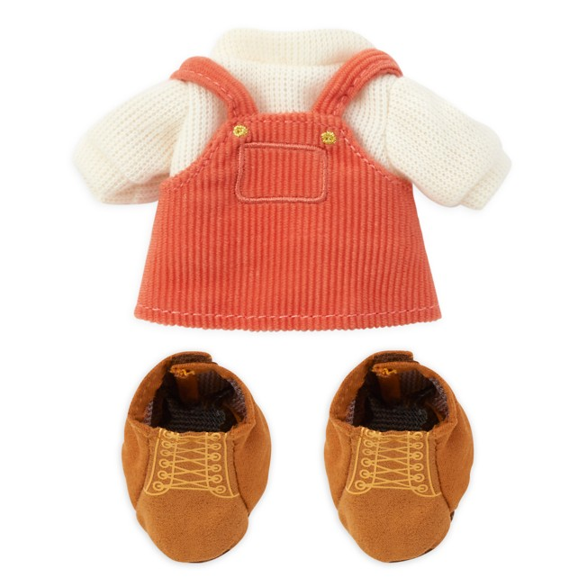 Disney nuiMOs Outfit – Orange Overalls with Sweater and Boots