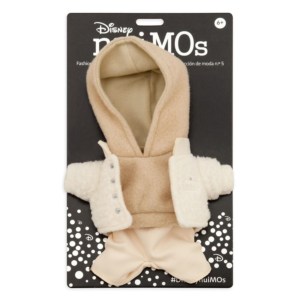Disney nuiMOs Outfit – Beige Sweatshirt with White Pants and Sherpa Jacket