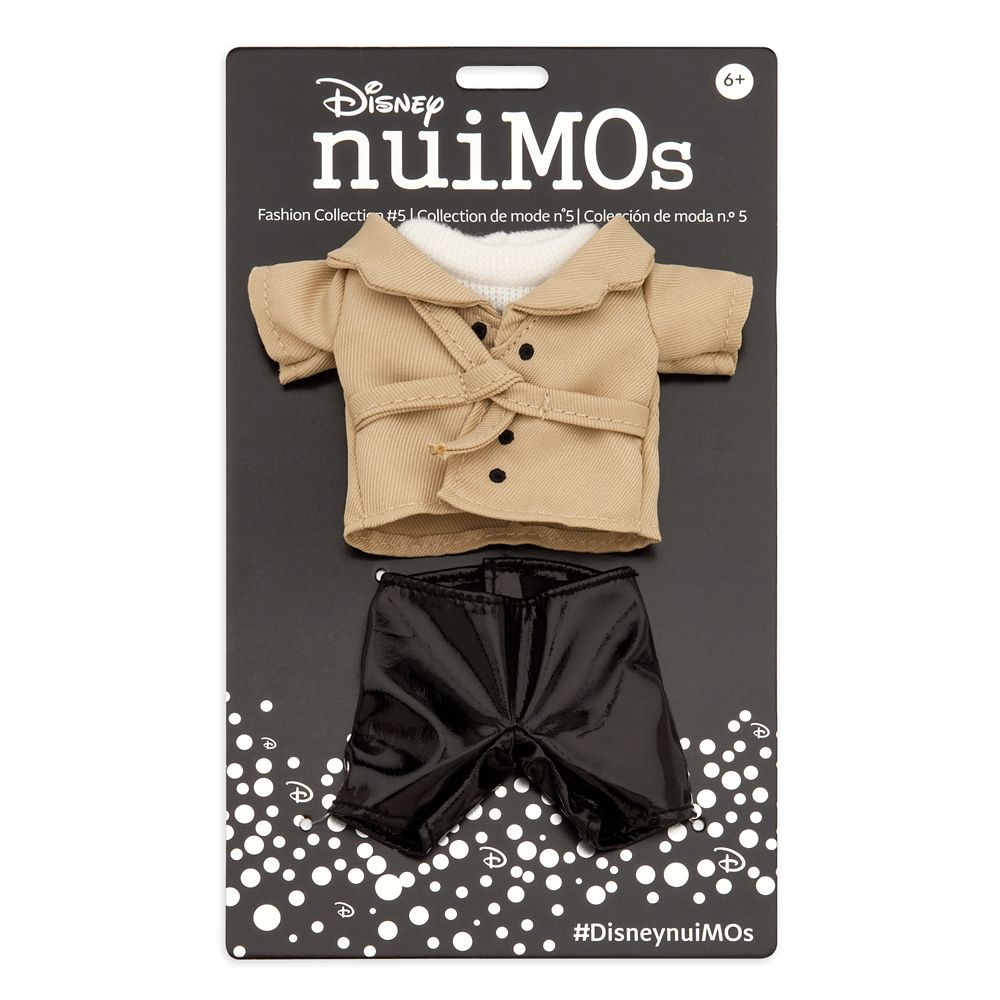 Disney nuiMOs Outfit – White Sweater with Trench Coat and Black Pants