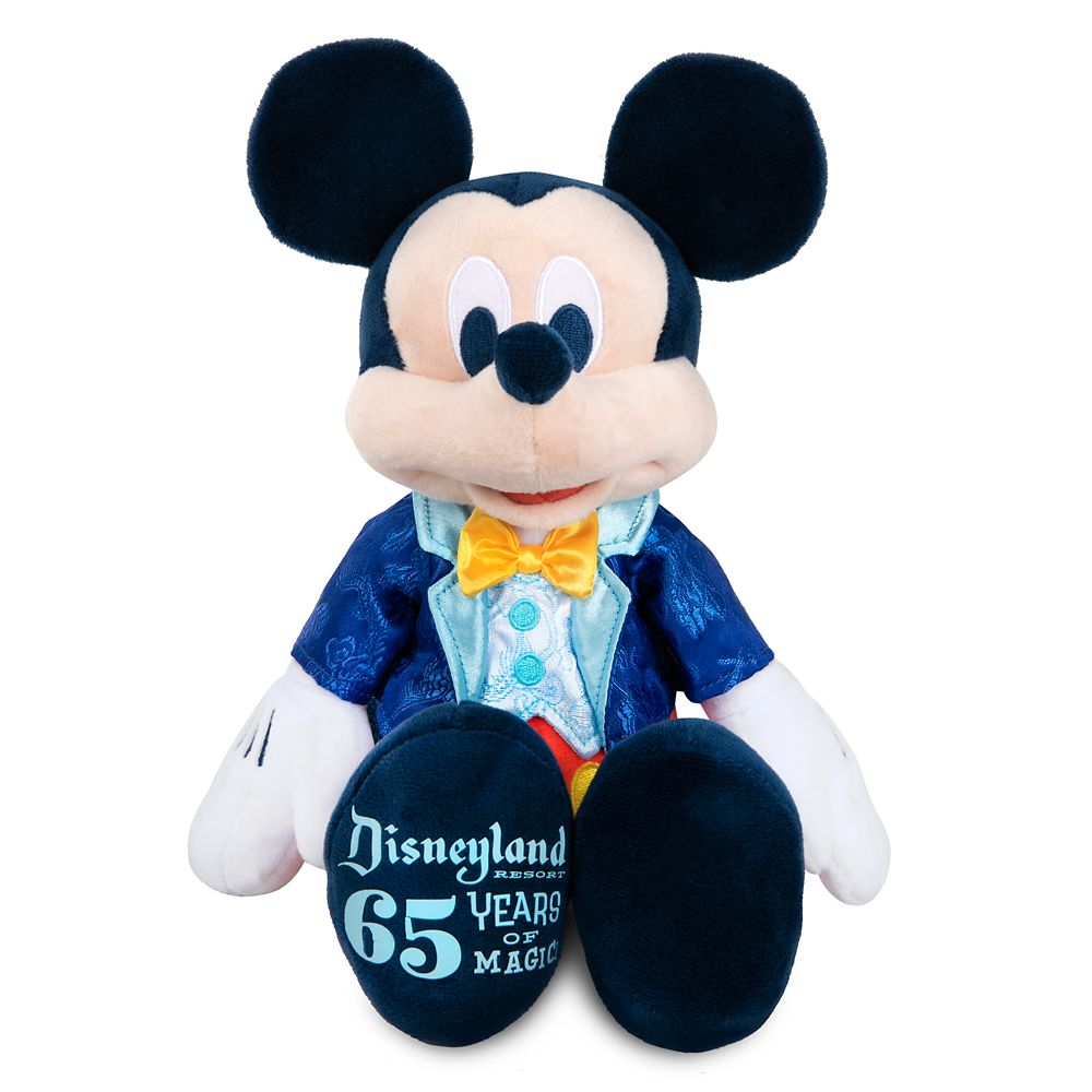 Mickey Mouse Plush – Disneyland 65th Anniversary – Small 13''