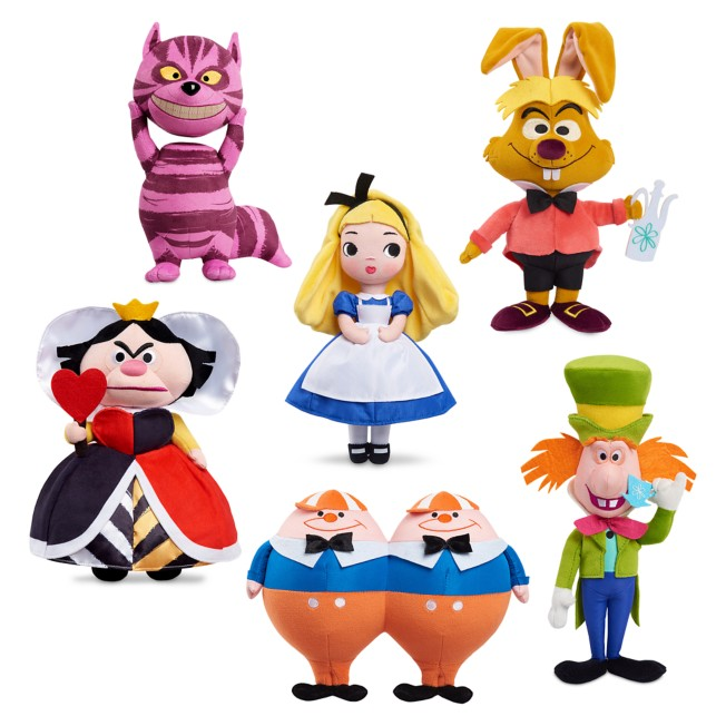D23 Exclusive Alice in Wonderland by Mary Blair 70th Anniversary Plush Set – Limited Release