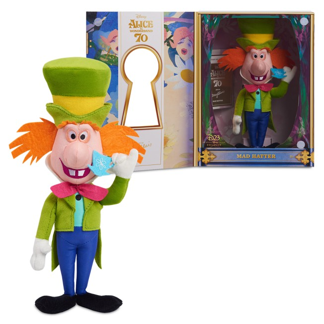 D23 Exclusive Mad Hatter Plush – Alice in Wonderland by Mary Blair – Limited Release