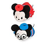 Mickey and Minnie Mouse ''Tsum Tsum'' Plush Paris Set - Mini 3 1/2''