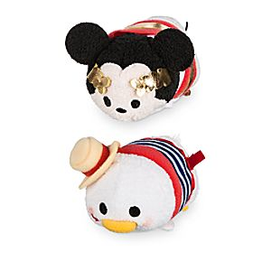 Mickey and Donald ''Tsum Tsum'' Plush Italy Set - Mini 3 1/2''