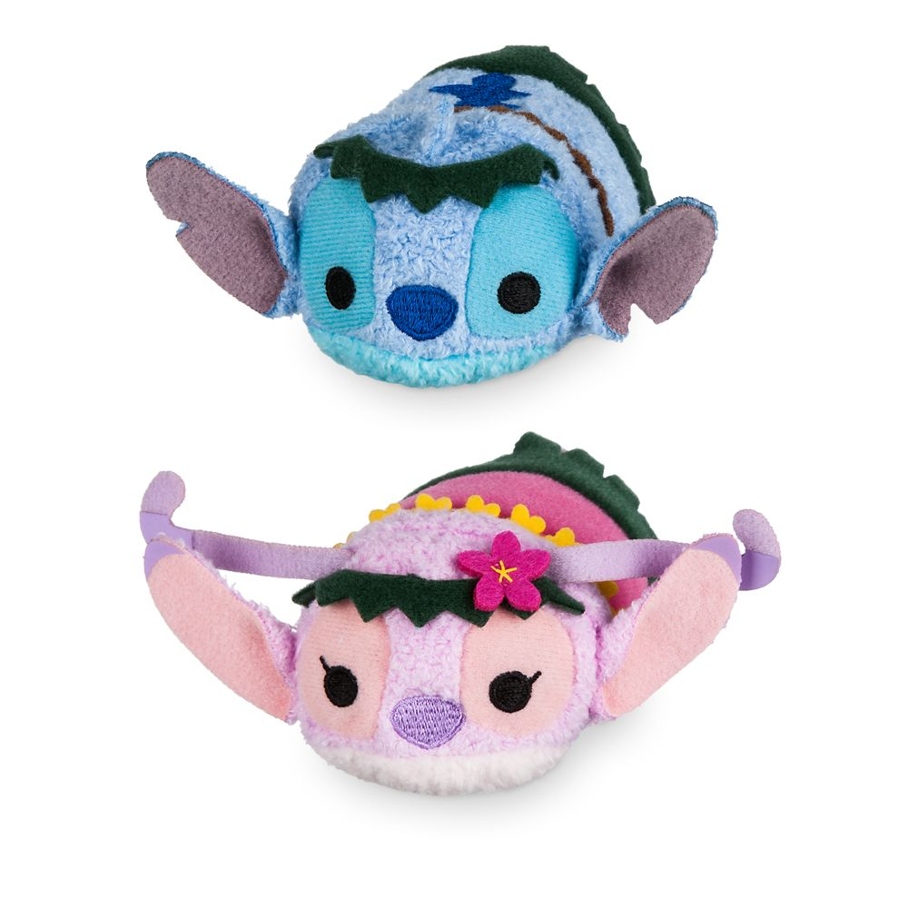 Stitch and Angel ''Tsum Tsum'' Plush Hawaiian Set – Mini 3 1/2''