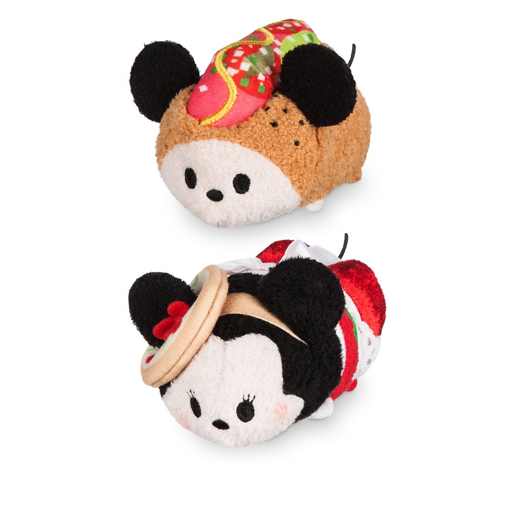 Mickey and Minnie Mouse ''Tsum Tsum'' Plush Chicago Set  Mini 3 1/2'' Official shopDisney