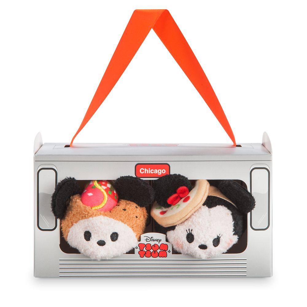 Mickey and Minnie Mouse ''Tsum Tsum'' Plush Chicago Set – Mini 3 1/2''