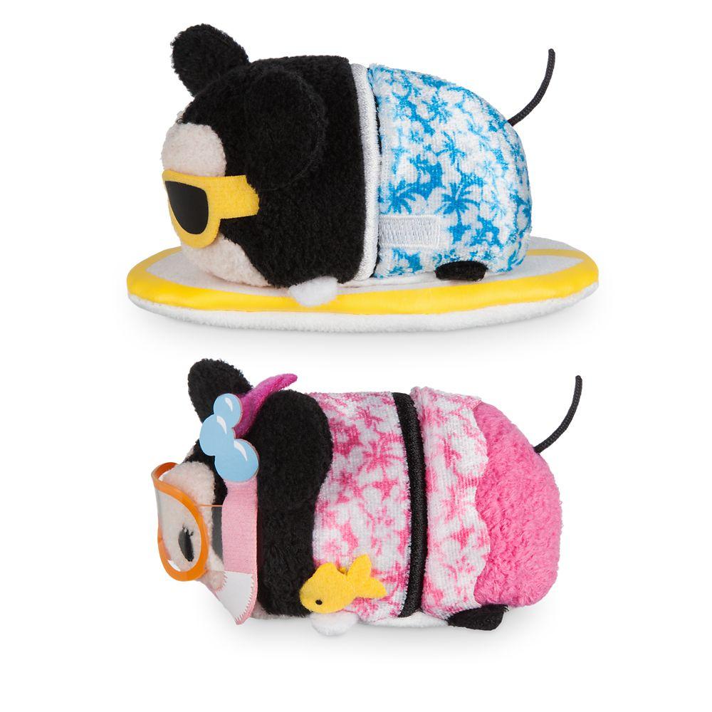 Mickey and Minnie Mouse ''Tsum Tsum'' Plush Hawaii Set – Mini 3 1/2''