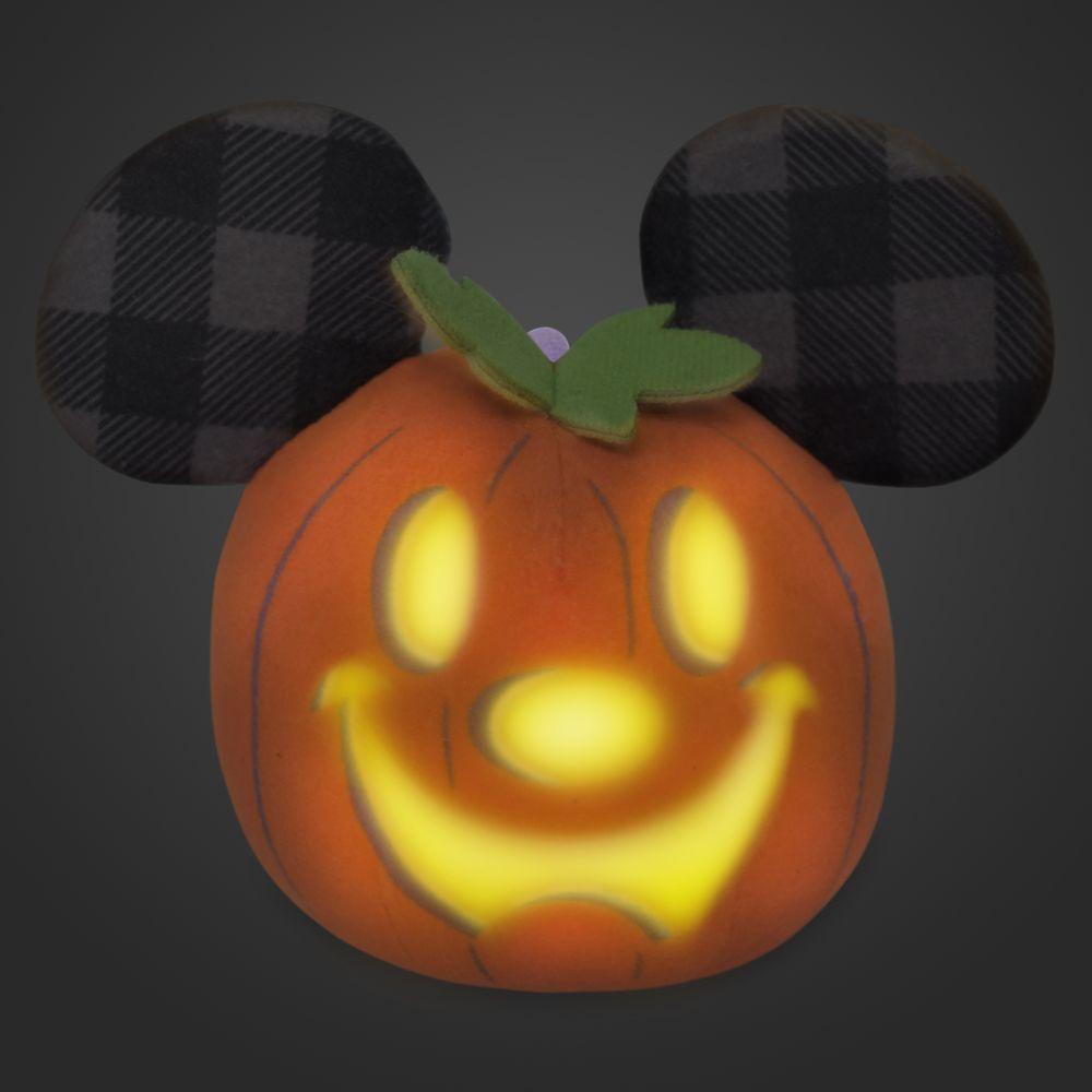 Mickey Mouse Jack-o'-Lantern Halloween Light-Up Plush