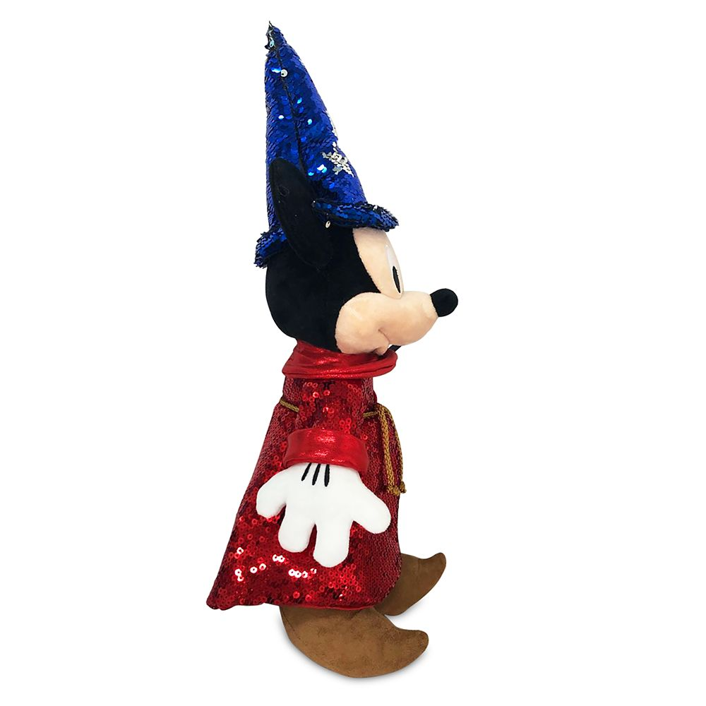 Sorcerer Mickey Mouse Sequined Plush – Fantasia 80th Anniversary – Small 15''