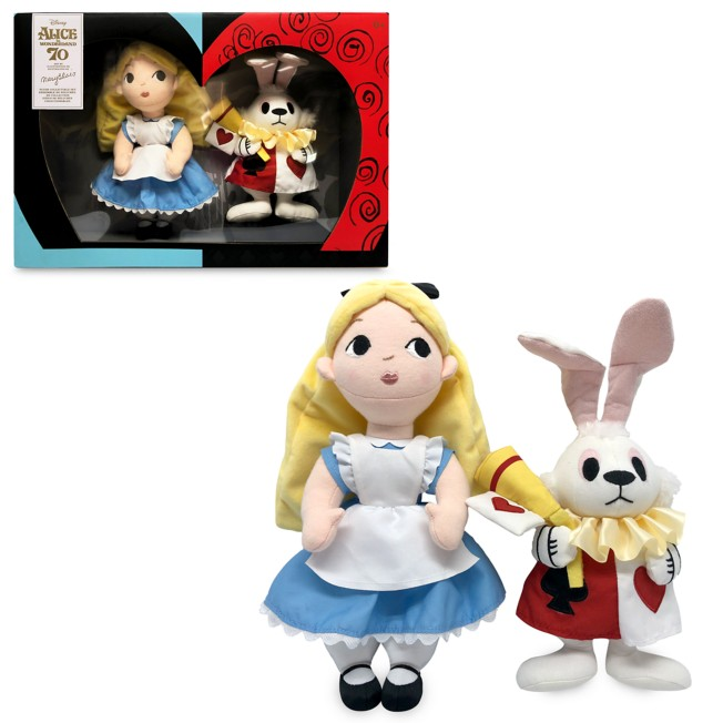 Alice & White Rabbit – Alice in Wonderland by Mary Blair Plush Set – Limited Release – 12''