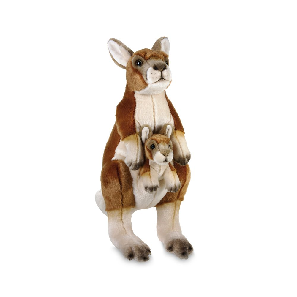 National Geographic Kangaroo with Baby Plush – 17''