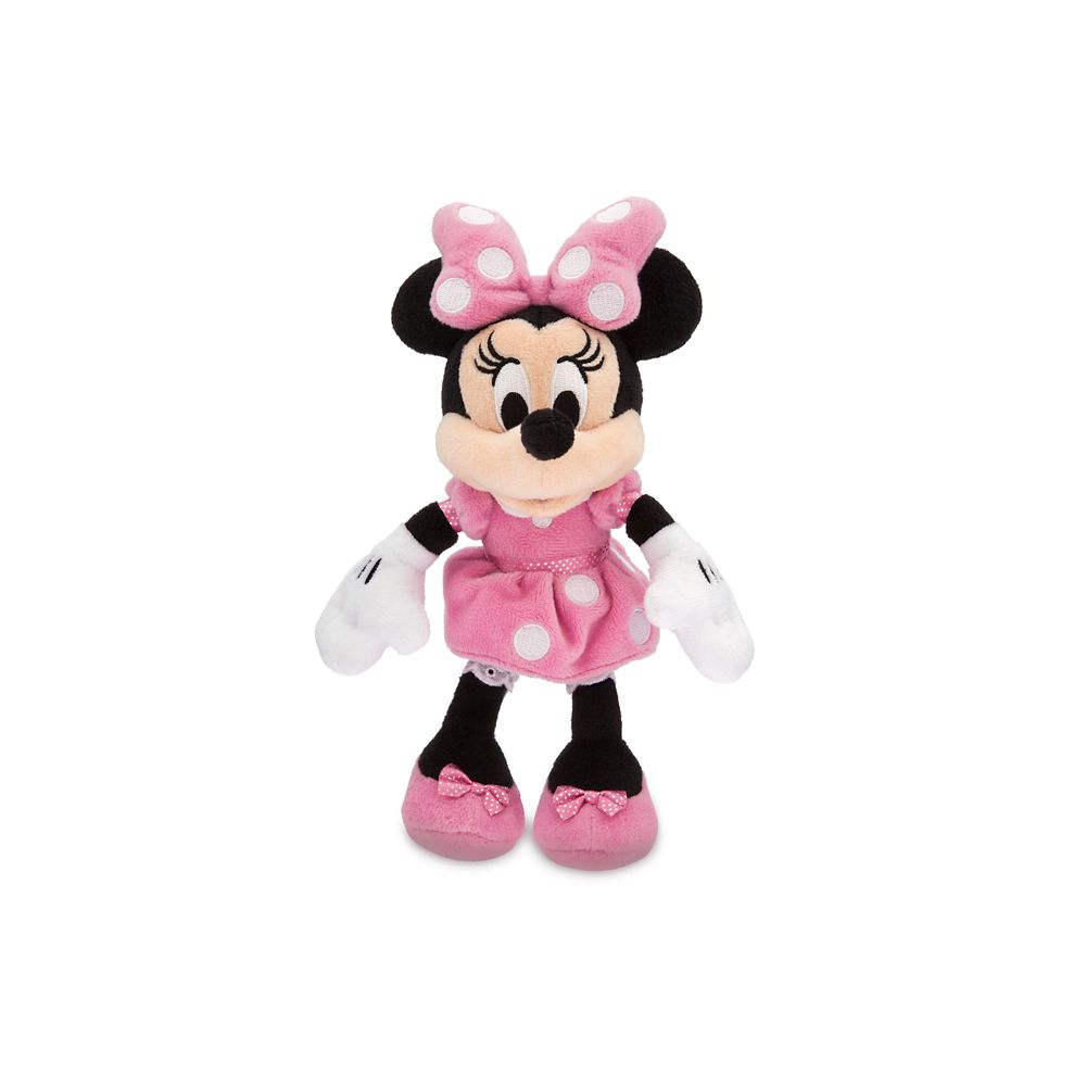 Minnie Mouse Plush – Pink – Mini Bean Bag – 9 1/2'' – Personalized