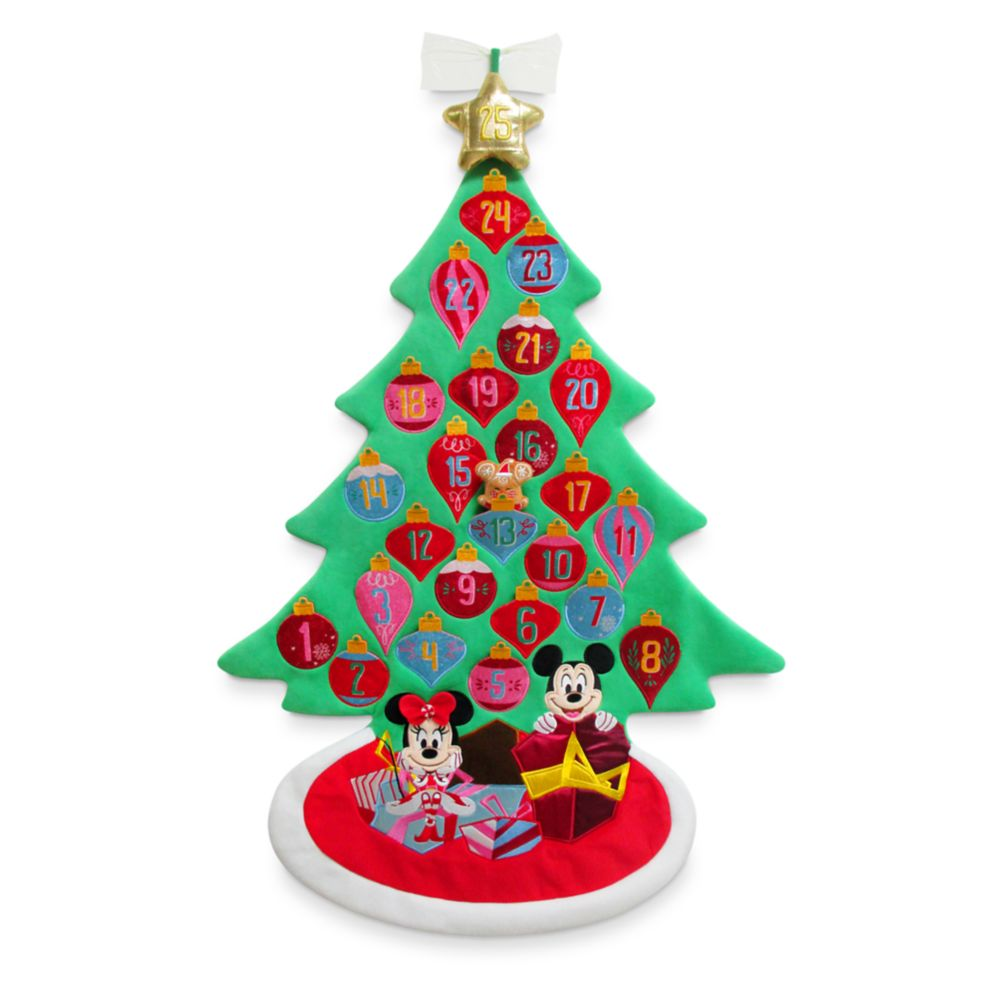 Mickey and Minnie Mouse Plush Advent Calendar Wall Hanging