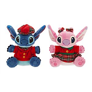 Stitch and Angel Holiday Plush Duo - Mini - 6