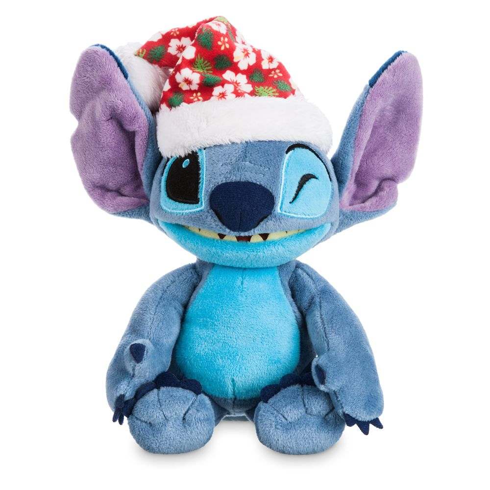 Stitch Poseable Plush and ''Holiday Mischief with Stitch'' Book Set