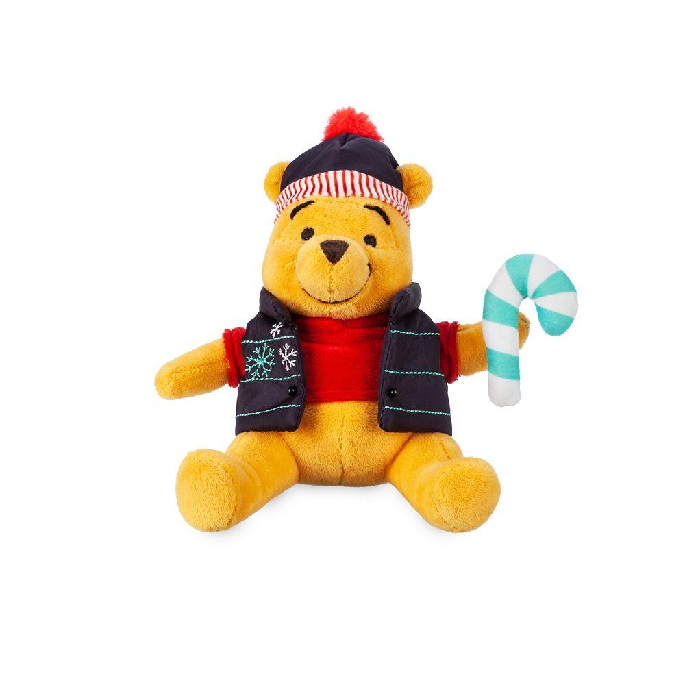Winnie the Pooh Holiday Plush  Mini Bean Bag  7'' Official shopDisney